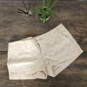 Crochet Ivory Floral Short